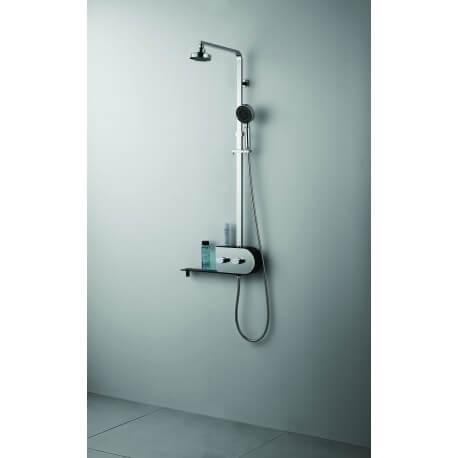 Bodyclean - Colonne de douche en acier inoxydable fonctions pluie tropicale et brume finition miroir S303