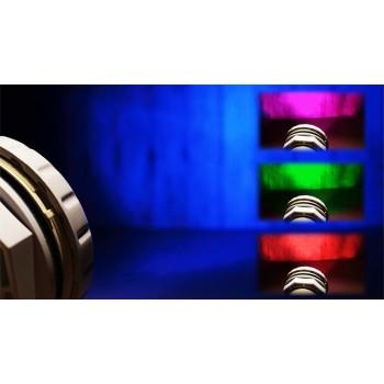 Spot étanche RGB pour piscine 9W + contrôle des couleurs
