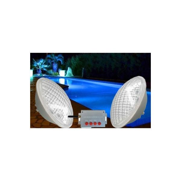Pack de 2 ampoule par56 de couleur rgb pour piscine for Ampoule pour piscine