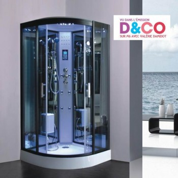 LUTECE® Dampfdusche Vollausstattung Duschkabine  LED Radio Touchpanel Bluetooth 90 x 90 x 215 cm Full Options