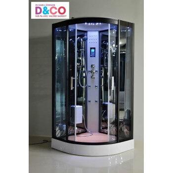 LUTECE® Dampfdusche Vollausstattung Duschkabine  LED Radio Touchpanel Bluetooth 100 x 100 x 215 cm Full Options