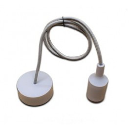 Grey silicone dome for a look modern E27 socket