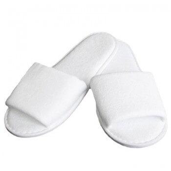 Lotto 10 paia di bianco aperto di pantofole spugna monouso