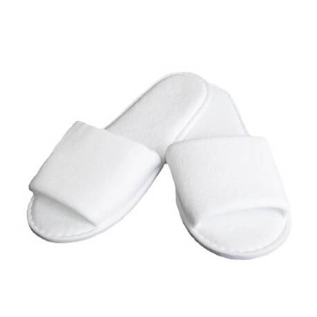 Lot of 10 pairs of slippers disposable sponge open white