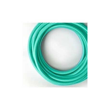 Turquoise vintage retro fabric look woven wire