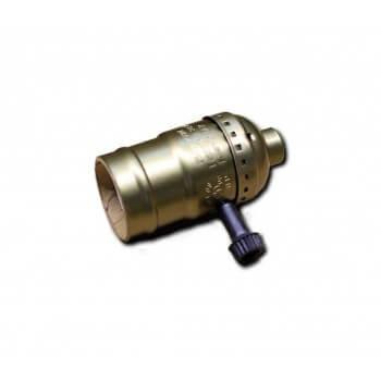 Tipo del zócalo E27 con interruptor rotatorio vintage bronce