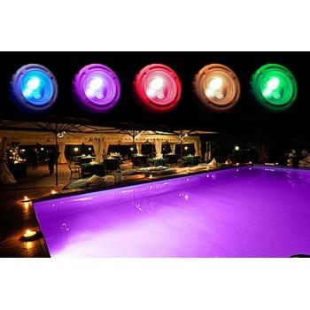 Spot pour piscine RGB + blanc 36 LEDs à encastrer 95x90mm