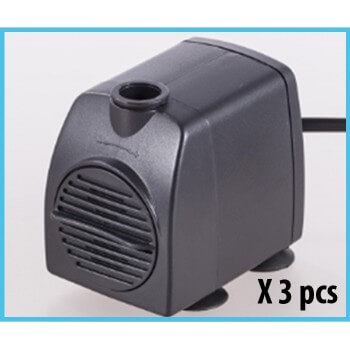 Set of 3 water pumps for aquarium 800L / H