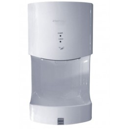 Hand dryer with drip drip tray in ABS VITECH white