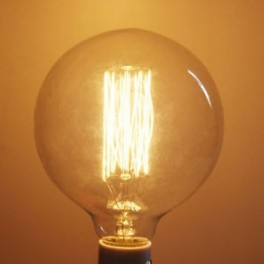 Lamp vintage Edison E27 G95 40W bulb