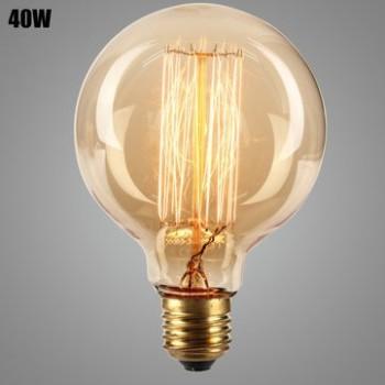 Lampe Vintage Glühbirne Edison E27 G95 40W Glühbirne