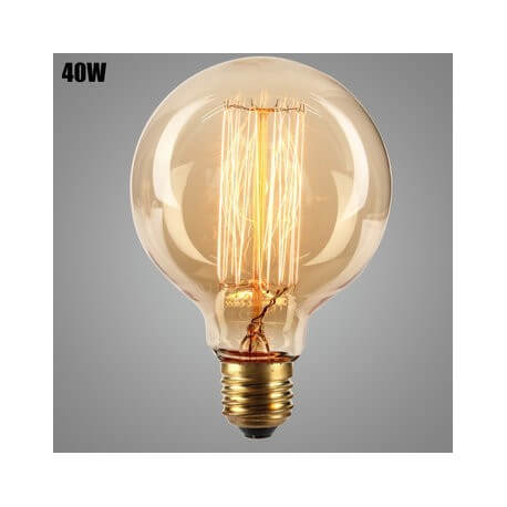 Lamp vintage bulb Edison E27 G95 40W incandescent light bulb