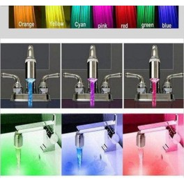 Pack of 3 LED light tip for mixer tap 7 colors