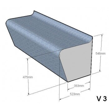 DuoPack Banc de construction pour hammam et sauna 2 x 1 mètre