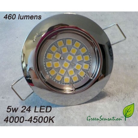 spot chrome recessed (with support) to LED GU10 5w warm white 2700-3200K 220v