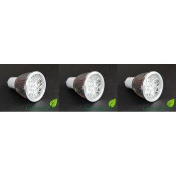 lot de 3 Ampoules à LED GU10  4w  4X1w haute intensité GreenSensation