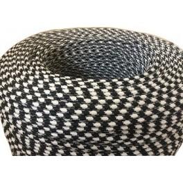 fil electrique tiss vintage tr ss triangulaire noir et blanc pour ambiance vintage. Black Bedroom Furniture Sets. Home Design Ideas