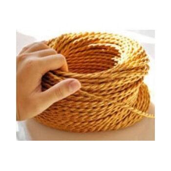 Vintage electric Wire trenzado a tejido retro look oro