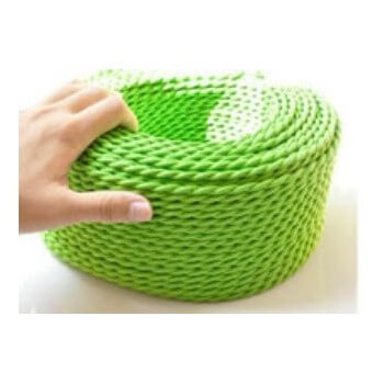 Aspecto de tejido retro vintage de alambre trenzado Verde manzana