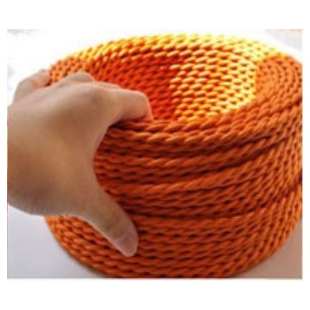 Braided wire orange vintage retro fabric look
