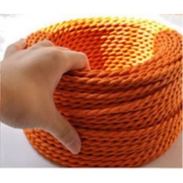 Braided wire orange vintage retro fabric look