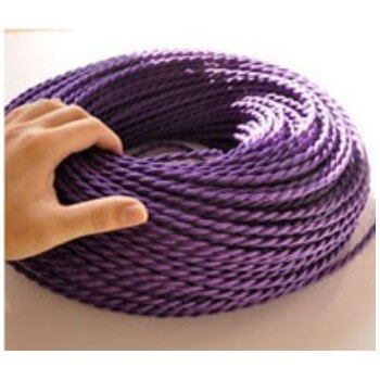 Tela retra Vintage look púrpura alambre trenzado