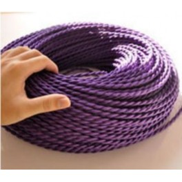 Vintage retro fabric look purple braided wire