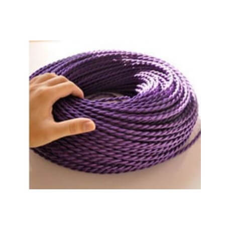 Vintage retro fabric look purple braided wire