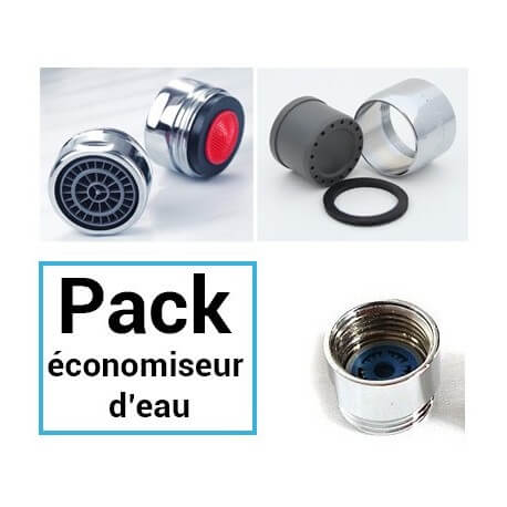 Universal tap and shower water saving Pack