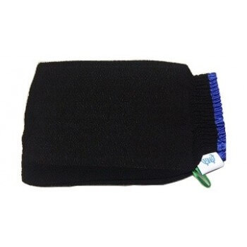 Glove kessa for hammam with blue strap