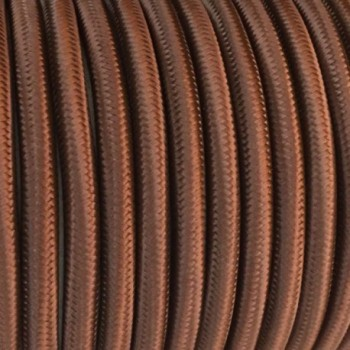 Fil électrique tissé de couleur Marron vintage look retro en tissu