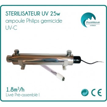 25w bulb Philips 1.8 m3/h UV water sterilizer