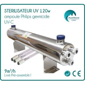 120w Philips germicidal UV - C bulb UV sterilizer