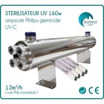 Stérilisateur UV 160W ampoule Philips germicide UV-C