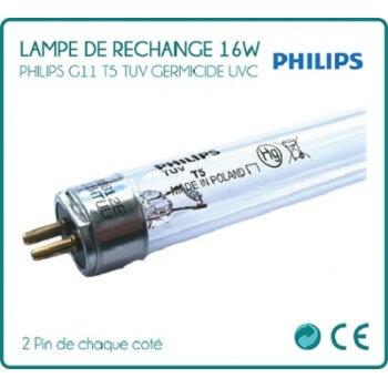 Lampe 16W Philips 2 Pin de chaque coté pour stérilisateur UV