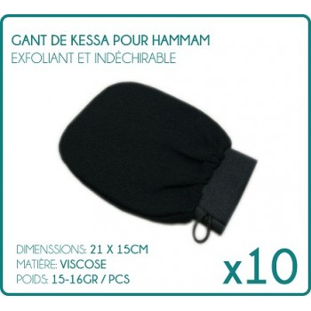 Lot of 10 gloves Kessa for Hammam black Exfoliating Scrub