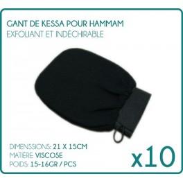 Glove Kessa for Hammam black X 10