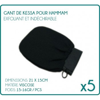 Glove Kessa for Hammam black X 5 (Pack of 5)