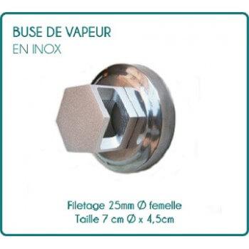 Buse de sortie de vapeur hexagonale en Inox