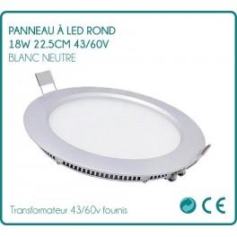 LED panel round 18w white neutral 22.5 cm 43/60v
