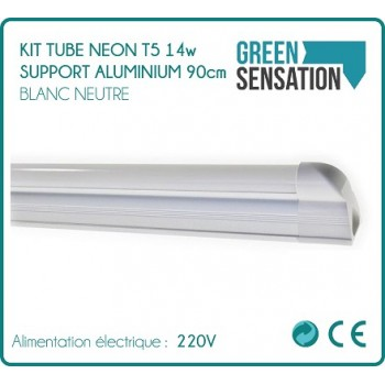 Kit Tube 90 cm Neon T5 on aluminium lighting LED economic support