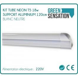 Kit Tube 120 cm Neon T5 on aluminium economical lighting support