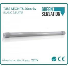 Tube Néon T8 60cm 9w 800Lm Blanc neutre  remplacement des néons LED