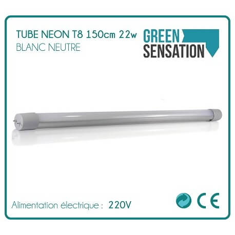 Tube 150cm 1900 Lm white 22W T8 Neon neutral led lighting