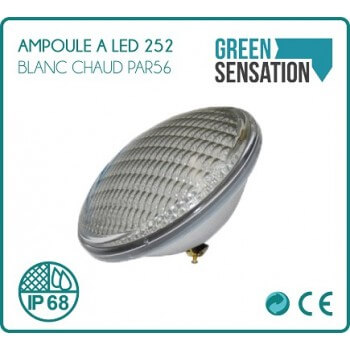 Led white bulb (Warm / hot)-252 LED PAR56 swimming pool