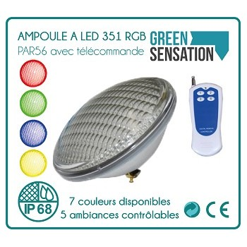 Bulb PAR56 swimming pool with remote 351LED