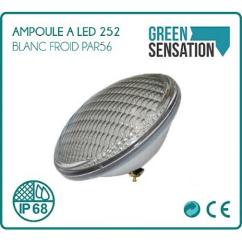 252led white LED cold white to pool PAR56 bulb