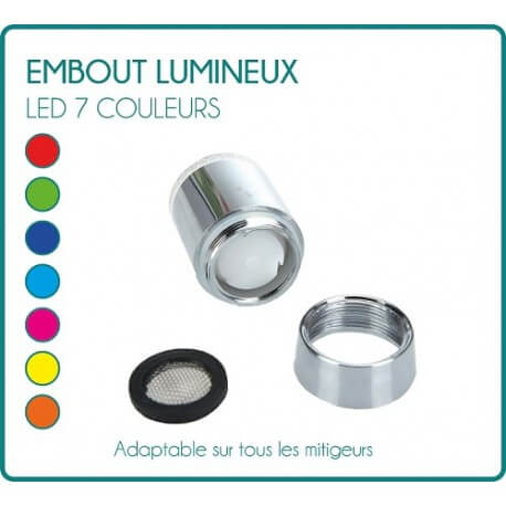 LED light tip for faucet tap 7 colors