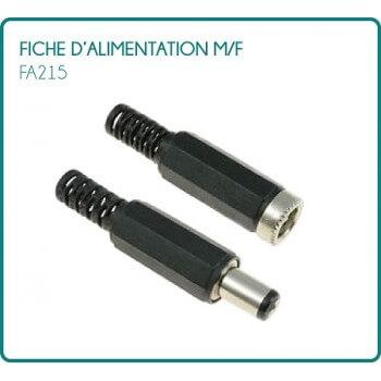 lot de 10 fiches d'alimentation m/f type FA215 pour 12/24V