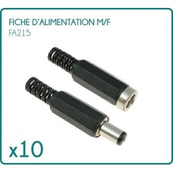 Set de 10 hojas de tipo m/f FA215 para fuente de alimentación 12/24V